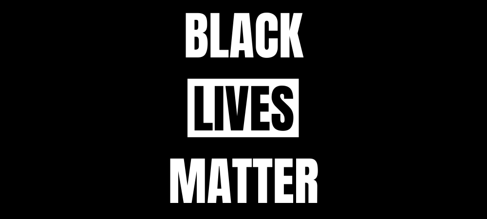 Black Lives Matter text over black background